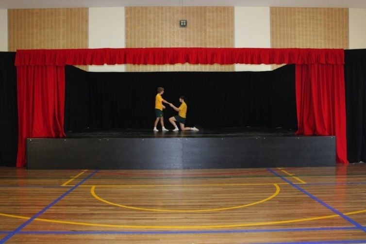 St Matthews Catholic School, Mudgee – portable stage drapes