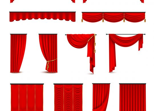 different type of theatre curtains